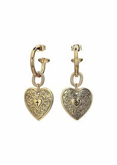 Vanessa Mooney The Angelica Heart Hoop Earrings