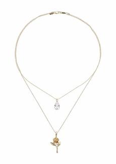 Vanessa Mooney The Rose Diamond Necklace