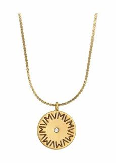 Vanessa Mooney The Royals Large VM Logo Diamond Pendant Necklace