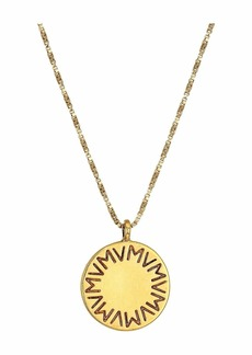 Vanessa Mooney The Royals Large VM Logo Pendant Necklace