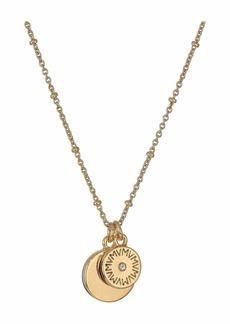 Vanessa Mooney The Royals Mini VM Diamond Logo & Pendant Necklace