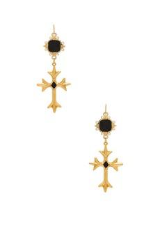 Vanessa Mooney The Saint Andrea Cross Earrings