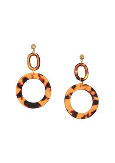 Vanessa Mooney Tortoise Shell Hoops Earrings