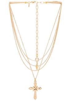 Vanessa Mooney Valeria Layered Cross Necklace