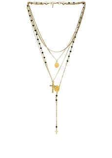 Vanessa Mooney Multi Layered Chain & Stone Rosary