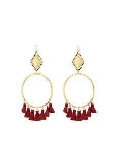 Vanessa Mooney The Ania Tassel Hoop Earrings