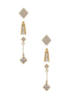 Vanessa Mooney The Deco Diamond Earring Set