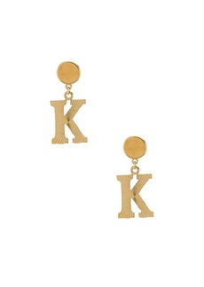 Vanessa Mooney The Illusion K Initial Earrings