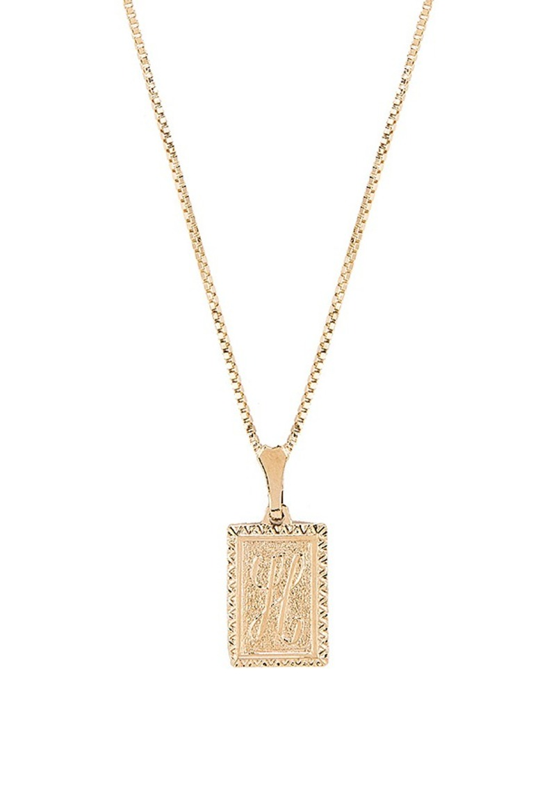 Vanessa Mooney The London H Initial Necklace
