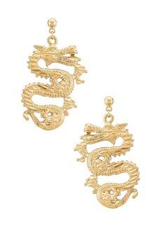 Vanessa Mooney The Ophelia Dragon Earrings