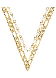 Vanessa Mooney The Rhapsody Chain & Pearl Necklace