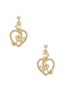 Vanessa Mooney The Sweetheart A Initial Earrings