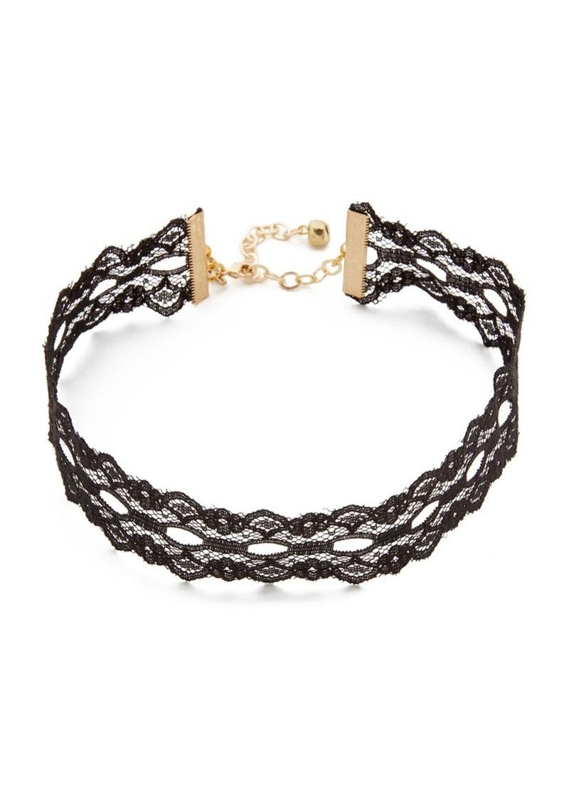 d6d536af615 SALE! Vanessa Mooney Vanessa Mooney Wide Lace Choker Necklace