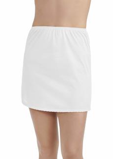 Vanity Fair Women's Anti-Static Nylon Half Slip for Under Dresses Single Slit-24 Length-White