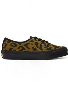 Vans Black & Brown Leopard OG Authentic LX Sneakers