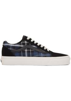 Vans Black & Navy Check Old Skool Sneakers
