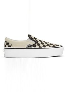 Vans Black & White Checkerboard Classic Slip-On Sneakers