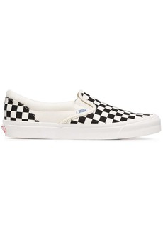 Vans black and white OG classic canvas slip on sneakers