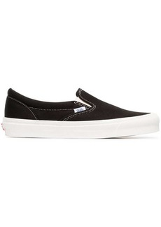 Vans black and white UA Classic Slip-On DX cotton sneakers
