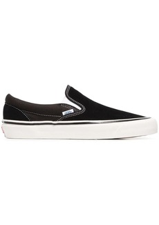 Vans black and white OG Classic Slip-On LX cotton sneakers