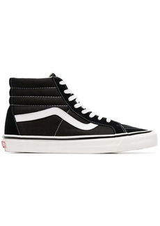 Vans black and white SK8-Hi 38 DX suede leather and canvas sneakers