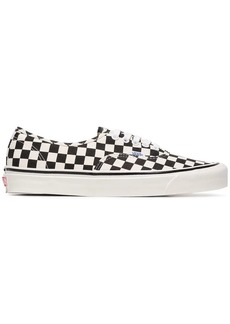 Vans black and white UA Classic Lace-Up DX check cotton sneakers