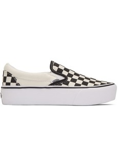 Vans Black Checkerboard Classic Slip-On Sneakers