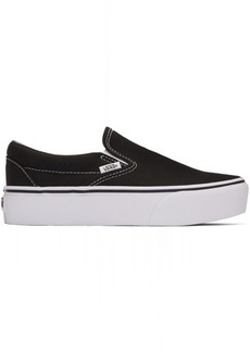 Vans Black Classic Slip-On Platform Sneakers