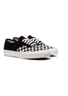 Vans black OG Authentic check print suede low-top sneakers