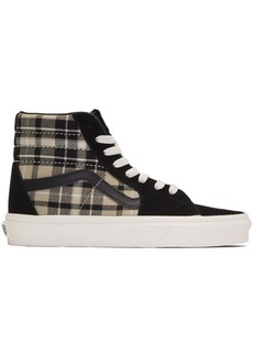 Vans Black Plaid Mix Sk8-Hi Sneakers