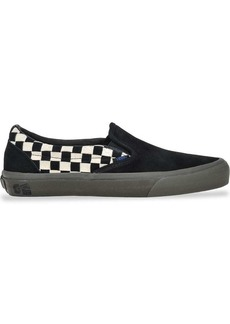 Vans black Vault Slip On checkerboard suede sneakers