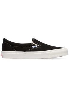 Vans black Vault Slip On cotton canvas sneakers