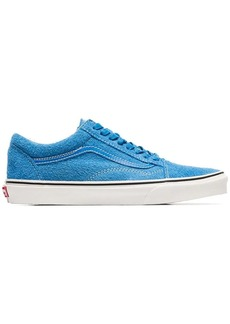 Vans blue hairy old skool suede sneakers