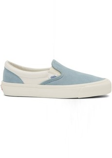 Vans Blue Suede OG Classic Slip-On Sneakers