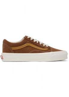 Vans Brown & Tan OG Old Skool LX Sneakers