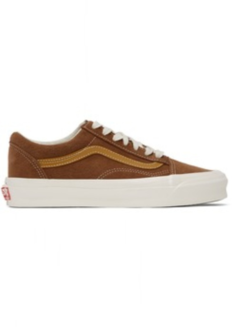 Vans Brown & Tan OG Old Skool LX Sneakers