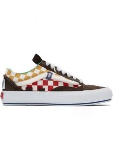 Vans Brown & White Old Skool Cap LX Sneakers