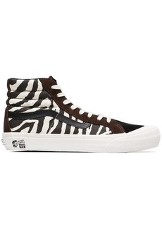 Vans brown and white vault x taka hayashi zebra print sneakers