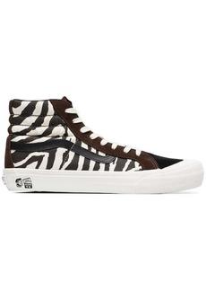 Vans brown and white vault x taka hayashi zebra print sneakers