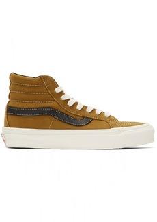 Vans Brown Nubuck OG Sk8-Hi LX Sneakers