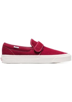 Vans burgundy 47 slip on suede sneakers