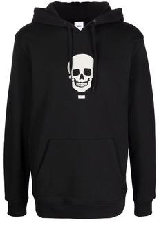 Vans embroidered-skull hoodie