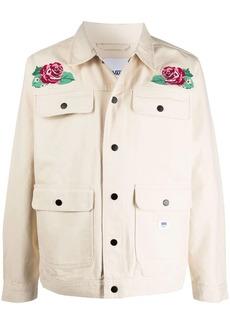 Vans floral-embroidered cotton jacket