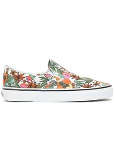 Vans floral-print slip-on sneakers