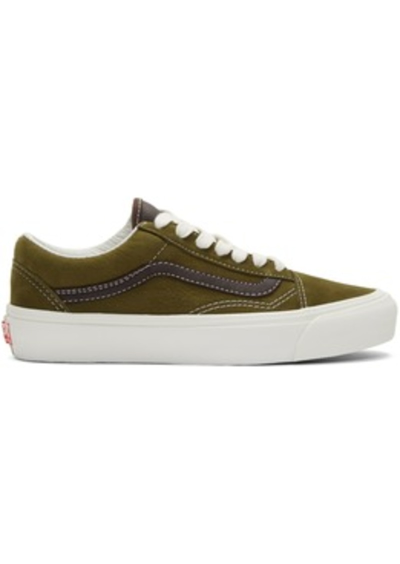 Vans Green & Brown OG Old Skool LX Sneakers