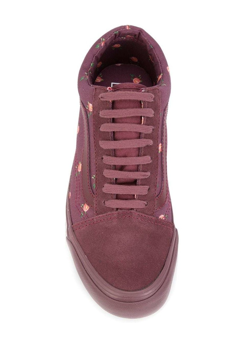 Vans low-top floral sneakers