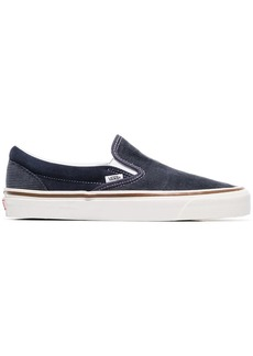 Vans navy blue and grey 98 DX corduroy slip on sneakers