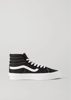 Vans Og Sk8-hi Lx Leather-trimmed Suede And Canvas High-top Sneakers