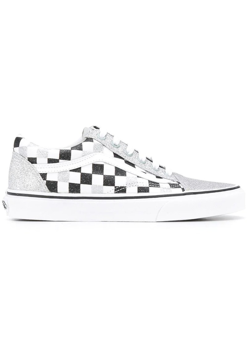 Vans Old Skool glitter checkerboard trainers
