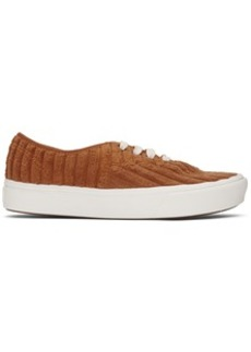 Vans Orange Jumbo Cord Authentic Sneakers